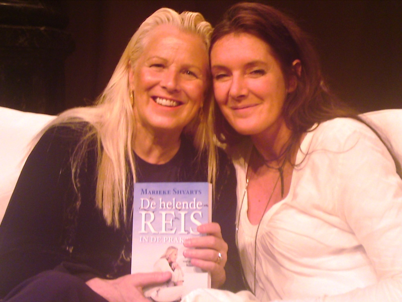 Marieke Meulenberg en Brandon Bays in Amsterdam